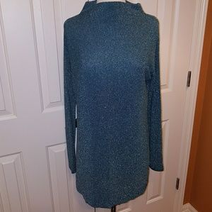 Spense L NWT, light knit sweater, grn